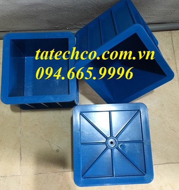 Khuôn vuông đúc mẫu bê tông kích thước 15x15x15 cm